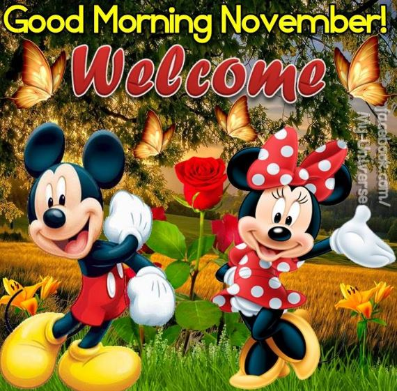 good morning November images and wishes