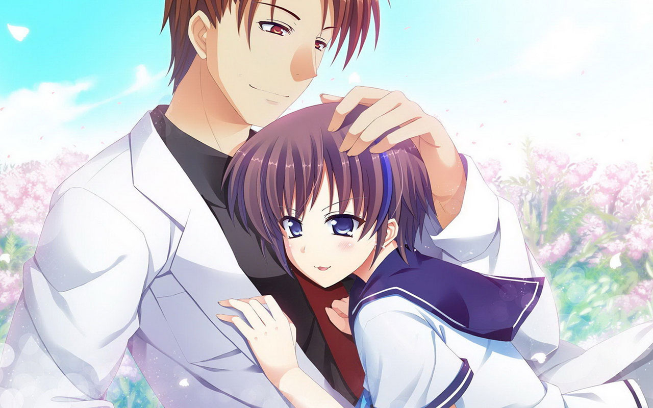Romantic cute anime couples images | animated couple pics photo dp