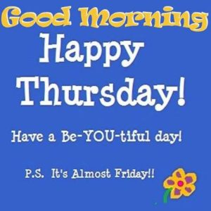 100+ Good morning Happy Thursday Images pics greetings Download