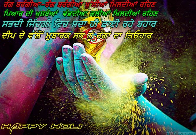 holi whatsapp status in punjabi