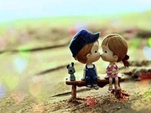cute doll kiss images for lover