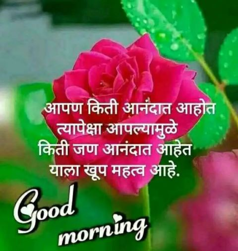 good morning images quotes of life in marathi